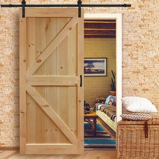 Solid Flush Wood Interior Barn Door