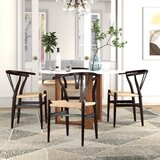 Seth Solid Wood Windsor Back Side Chair in Beige (Set of 2) by Foundstone™