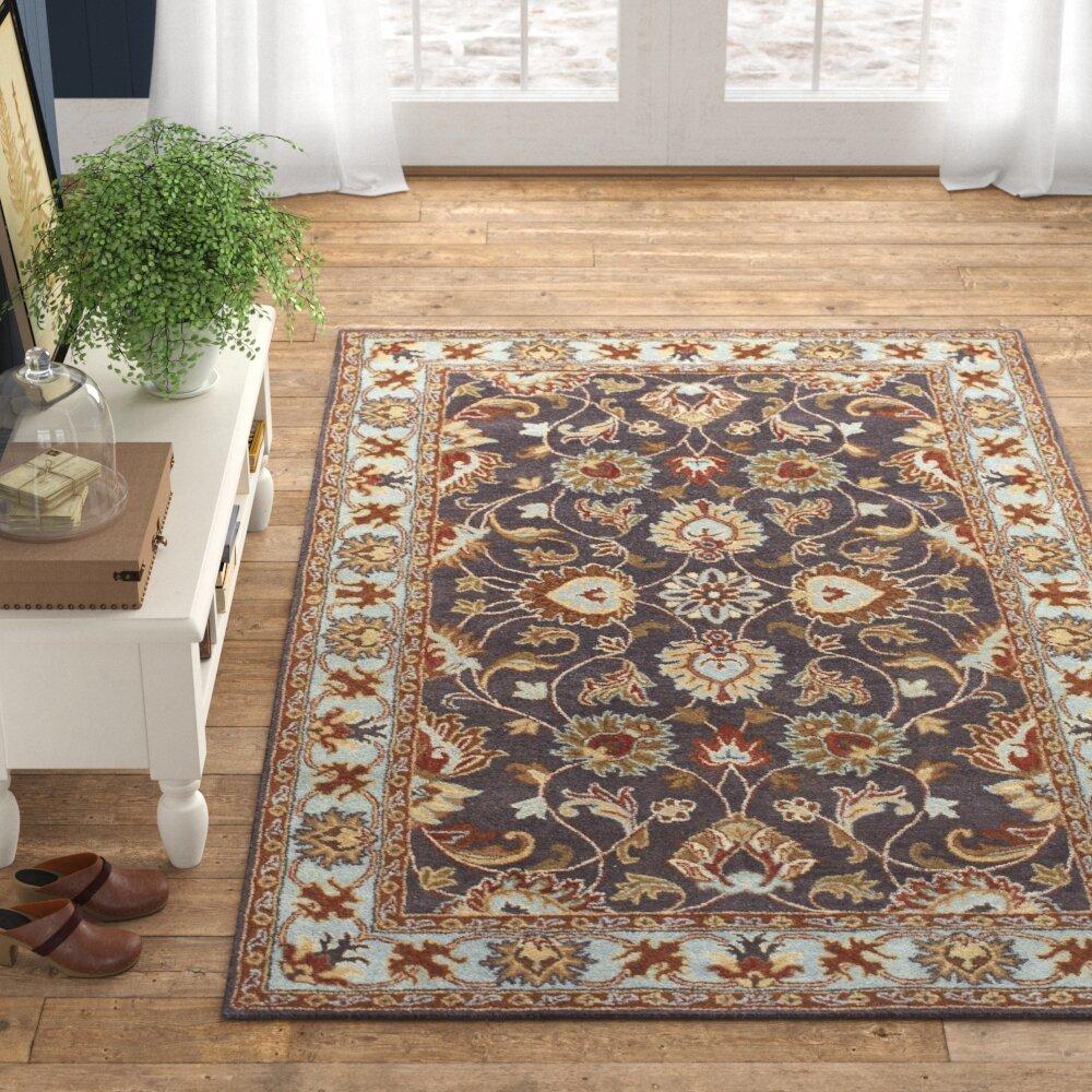 Massima Oriental Handmade Tufted Wool Charcoal Area Rug Reviews Birch Lane