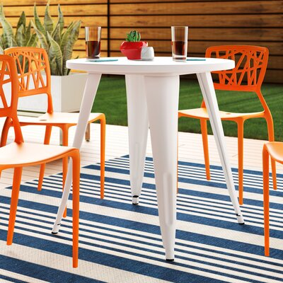 Pelzer Metal Bistro Table by Latitude Run Savings