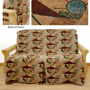 Mardi Gras Box Cushion Futon Slipcover by Easy Fit New Design