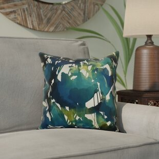 Kam Abstract Floral Outdoor Throw Pillow