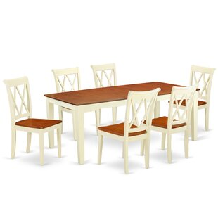 Komar 7 Piece Extendable Solid Wood Dining Set