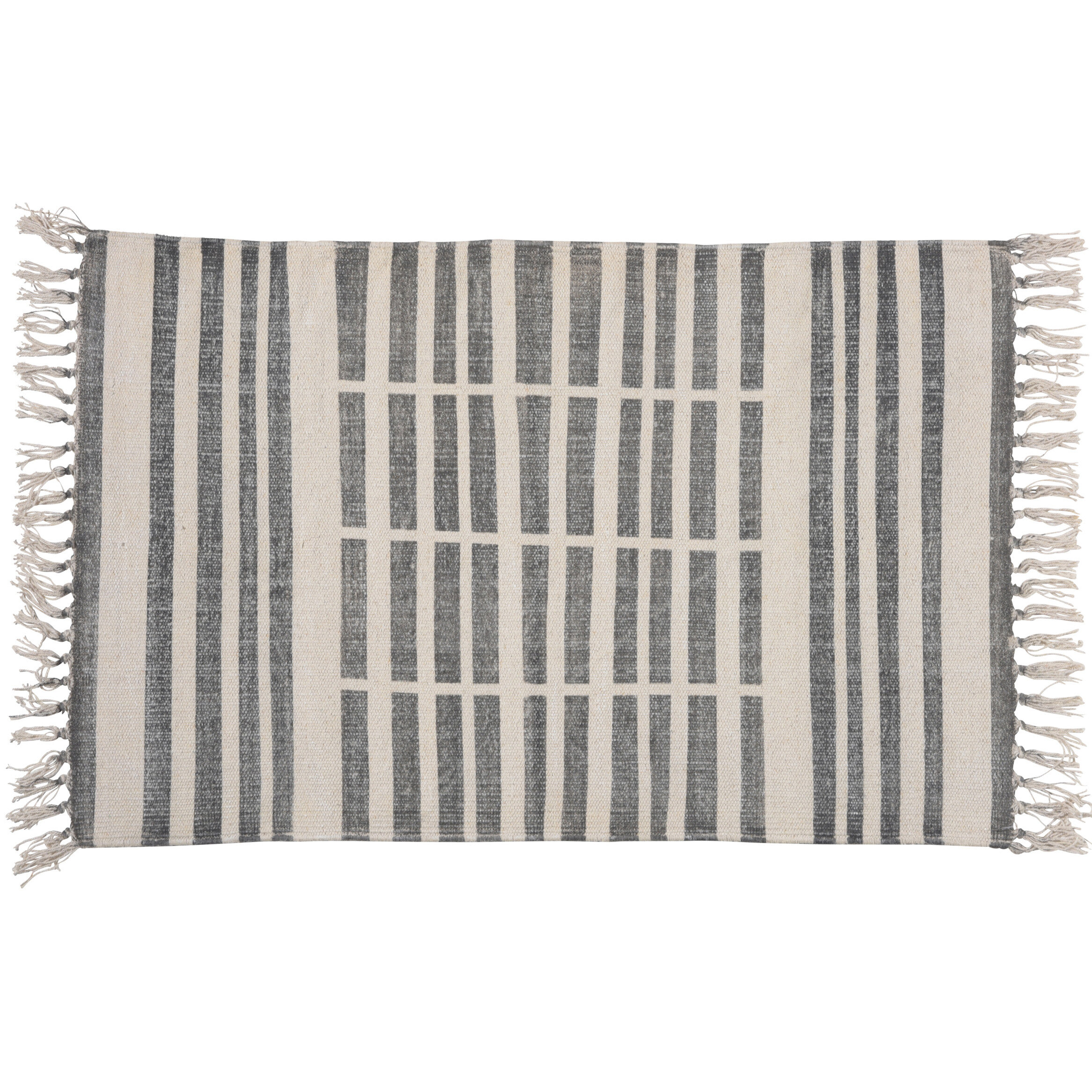 Union Rustic Orchard Street Handwoven Flatweave Cotton Gray