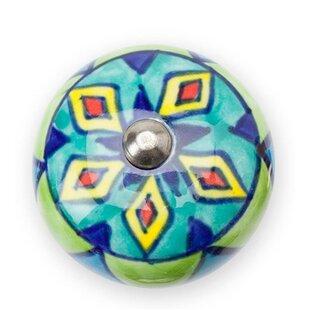 Colorful Ceramic Round Knob