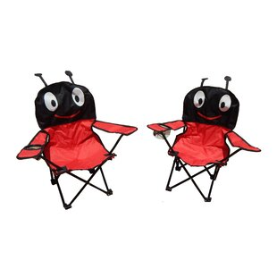 Myra Ant Image Kids Folding Camping Chairs with Cup Holder (Set of 2) by Zoomie Kids