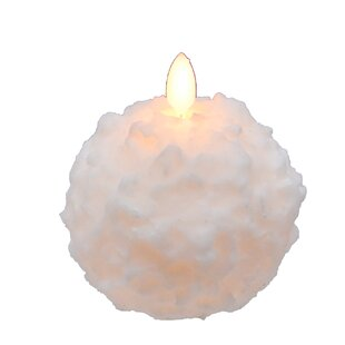 Snowball Unscented Novelty Candle (Set of 2)