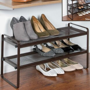 Look for Space Saving 6 Pair Stackable Shoe Rack By HomeCrate