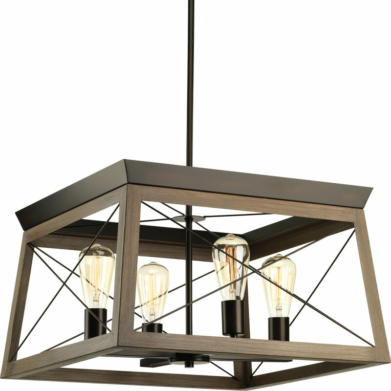Delon 4 - Light Lantern Rectangle Chandelier