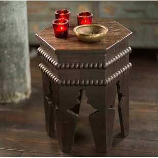 Skiatook Antique Wood Moroccan End Table