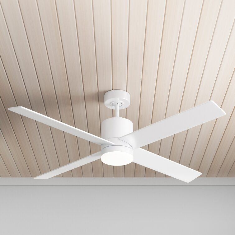 Allmodern 52 Harlingen 4 Blade Led Standard Ceiling Fan With Remote Control And Light Kit Included Reviews Wayfair