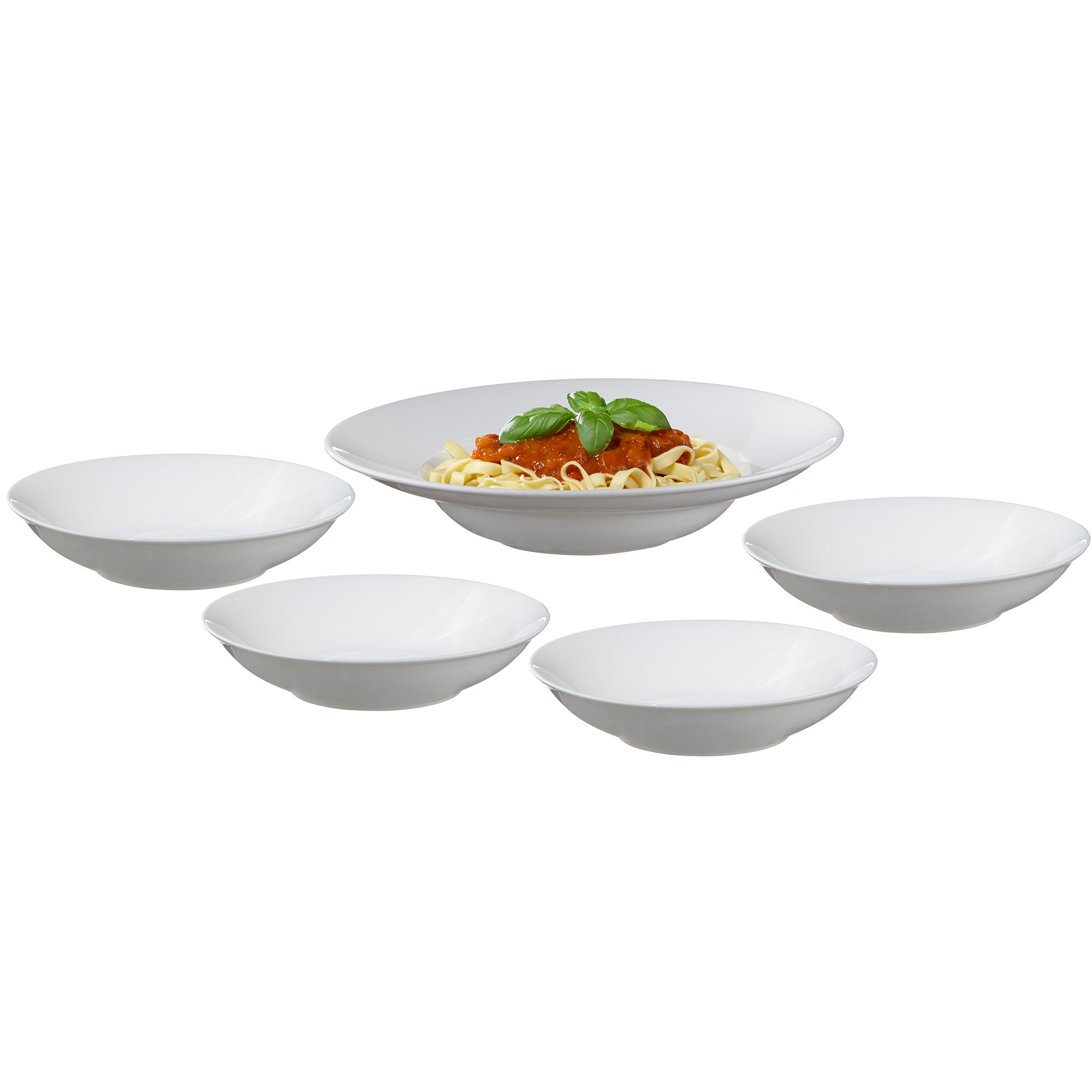 Charlton Home Rothsville 5 Piece Pasta Dish Set Reviews Wayfair
