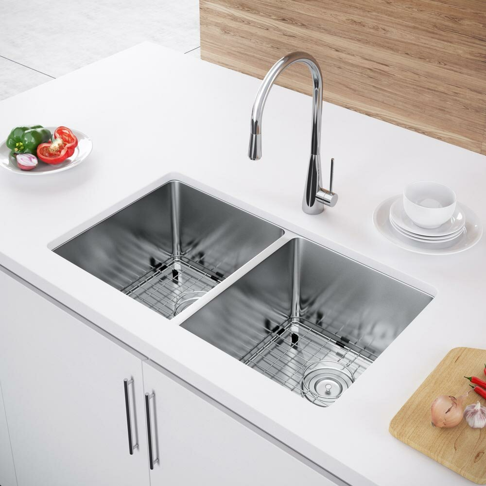 franco kitchen sinks exclusive heritage 31 quot l x 18 quot w bowl undermount 1054