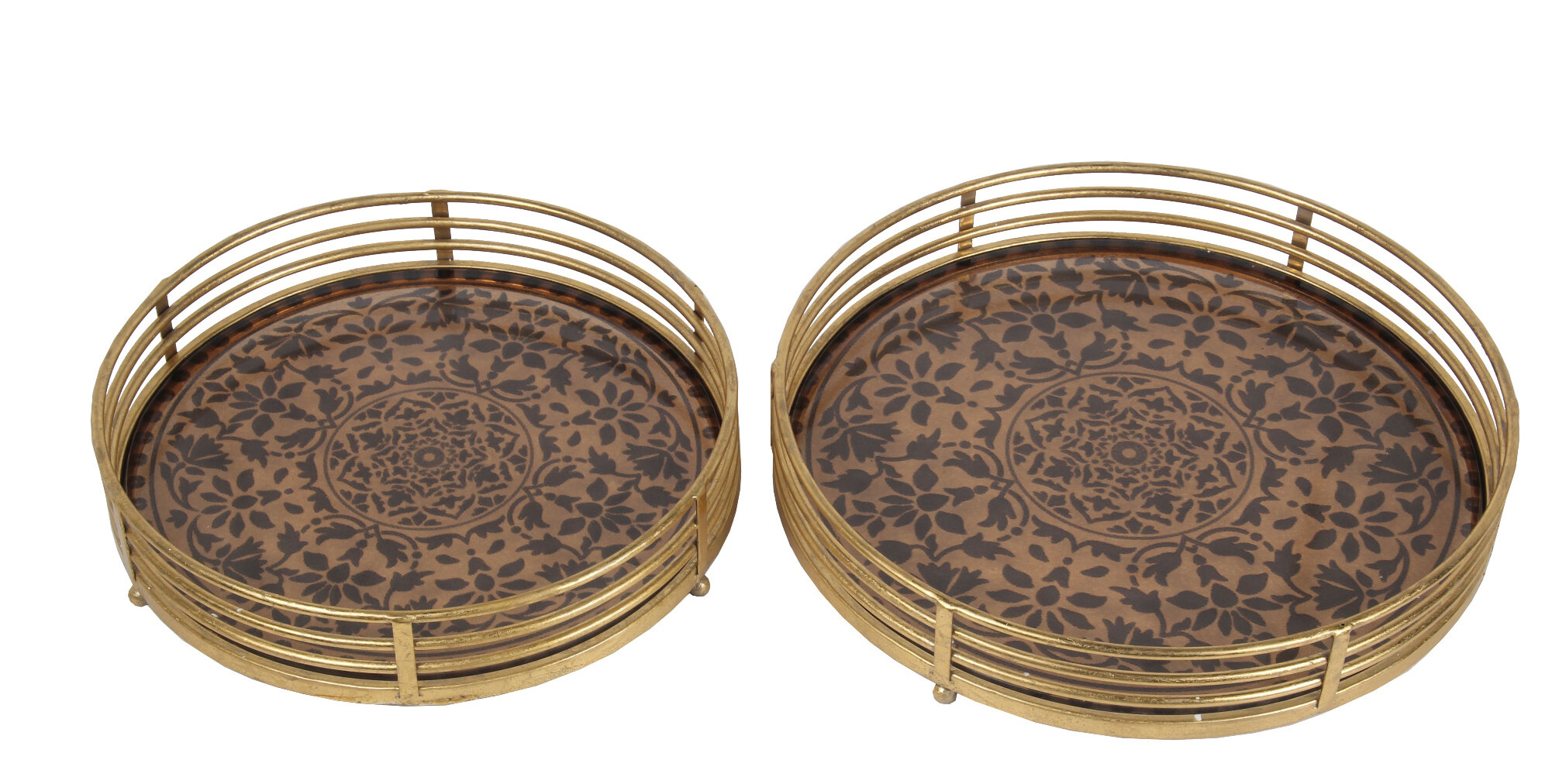 Round World Menagerie Decorative Trays You Ll Love In 2021 Wayfair