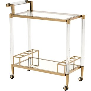 Gomer Acrylic Modern Bar Cart by Everly Quinn