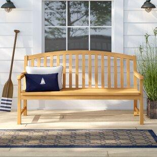 Harpersfield Rustic Wood Garden Bench by Beachcrest Home