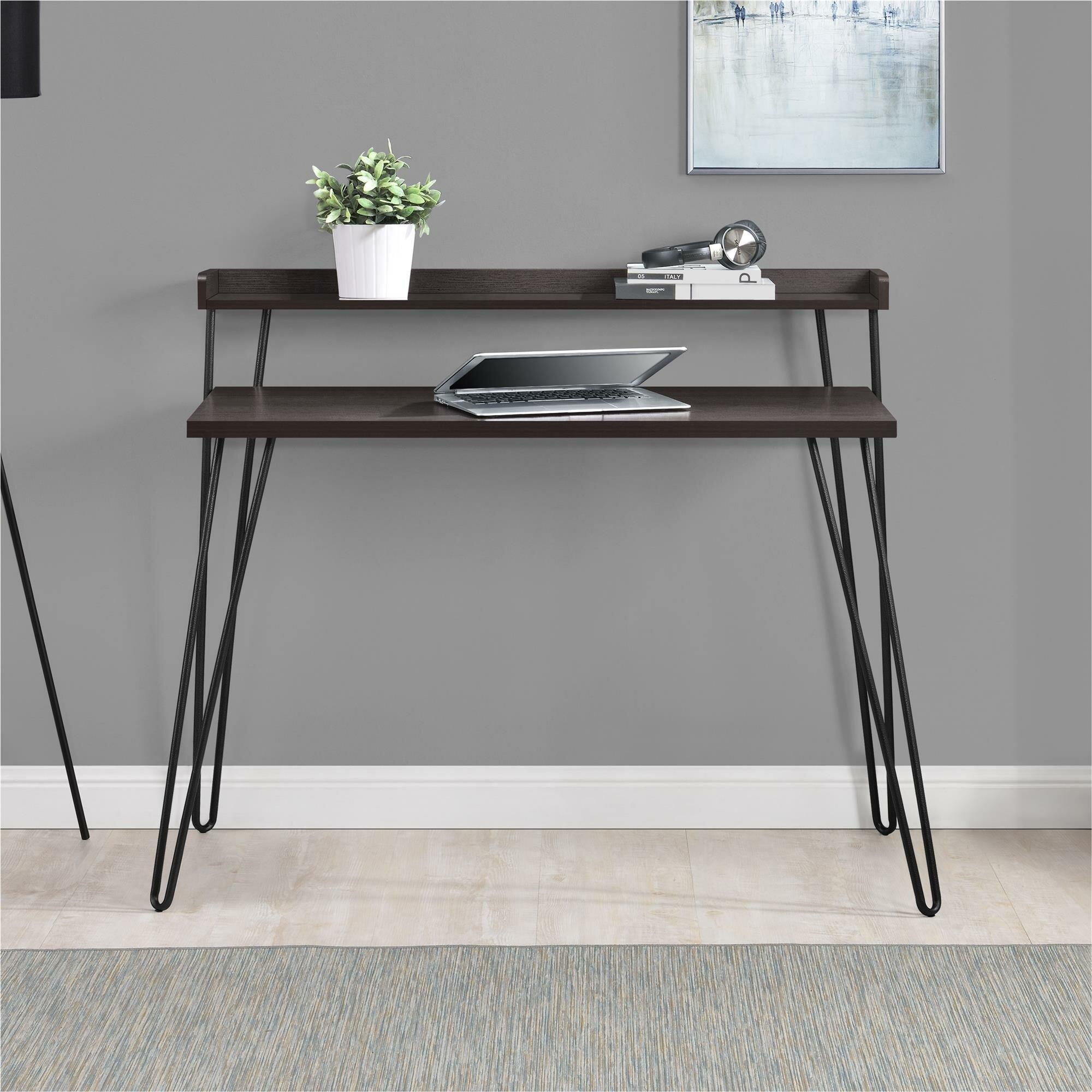 accents writing gray with best gold greenite hooker dark desk grey furniture l gervasoni