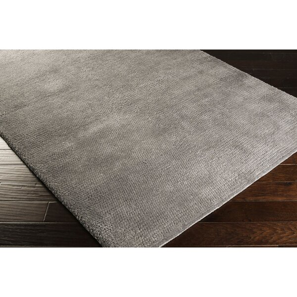 Red Barrel Studio Tully Handwoven Gray Wool Gray Area Rug Wayfair