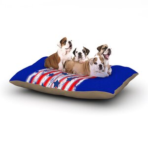Frederic Levy-Hadida 'Going 4ward' Dog Pillow with Fleece Cozy Top