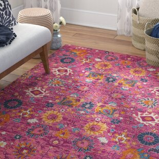 Shortwood Fuchsia Indoor Area Rug by Viv + Rae