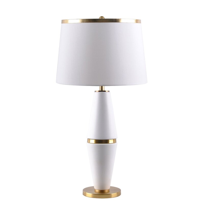 Inspiremehomedécor 28 75 White And Gold Table Lamp Wayfair