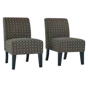 Maisonet Upholstered Slipper Chair (Set of 2) by Ebern Designs