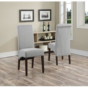 avalon fabric parsons chair set of 2