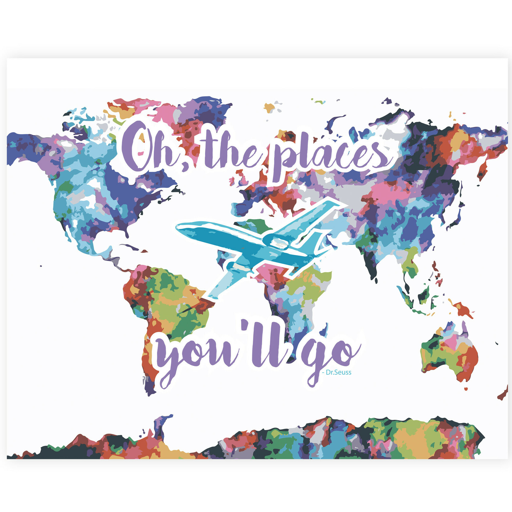 children inspire design oh the places you ll go map watercolor