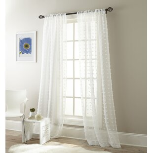 Aesara Solid Sheer Curtain Panels (Set of 2) by Mistana
