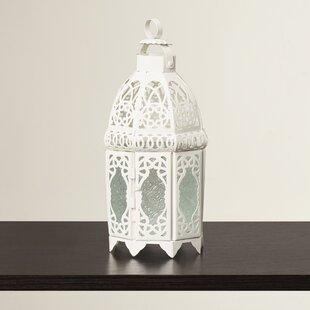 White Glass / Metal Lantern