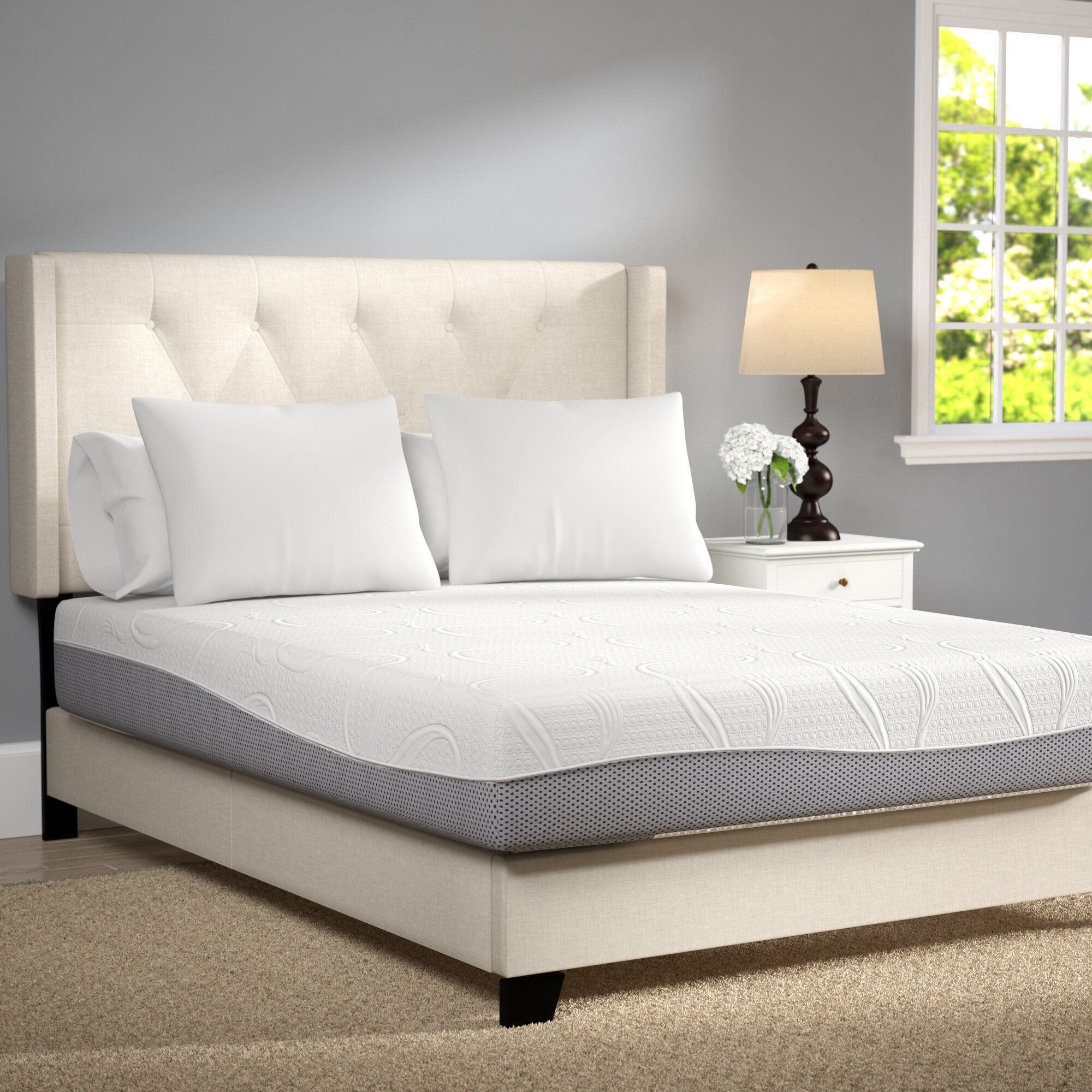 alwyn home 12 firm memory foam mattress reviews wayfair