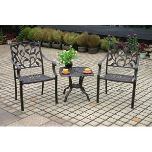 Bruns Stacking Patio Dining Chair with Cushion (Set of 4)
