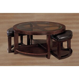 3219 Series Coffee Table with 2 Ottomans by Woodhaven Hill