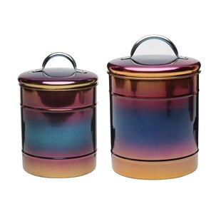 Rainbow 2 Piece Kitchen Canister Set by Wrought Studio Looking for