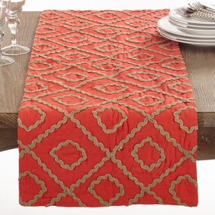La Rochelle Jute Embroidered Table Runner