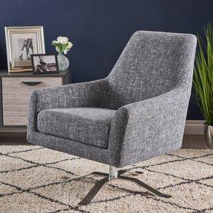Buy luxury Shevlin Modern Fabric Swivel Armchair by Orren Ellis