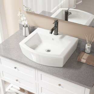 Top Reviews Specialty Vitreous China Specialty Vessel Bathroom Sink with Faucet and Overflow By MR Direct