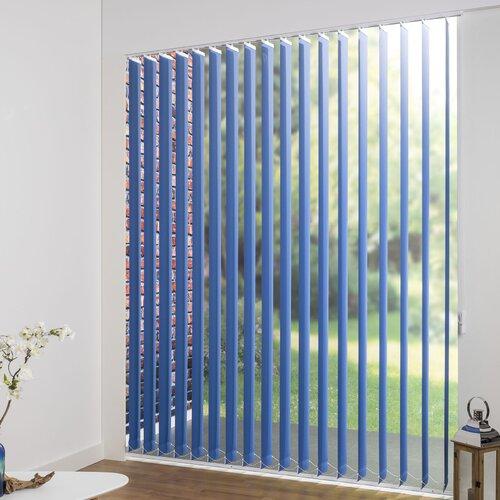 Lamellenvorhang Verdunkelnd mit PES-Beschichtung ClearAmbient Größe: 250 L x 100 B cm| Farbe: Blau| Lamellenbreite: 12|7 cm | Heimtextilien > Jalousien und Rollos | ClearAmbient