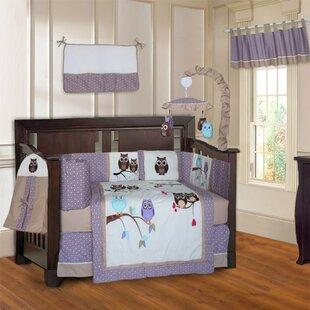 Domingue Owl 10 Piece Crib Bedding Set