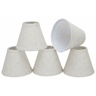 6 Linen Empire Candelabra Shade (Set of 5)