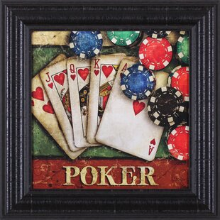 Poker by Mollie B. Art Framed Graphic Art by Art Effects