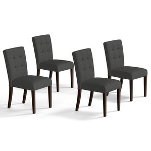 Grey Kitchen  Dining Chairs Youll Love Wayfair - Dining room chairs set of 4