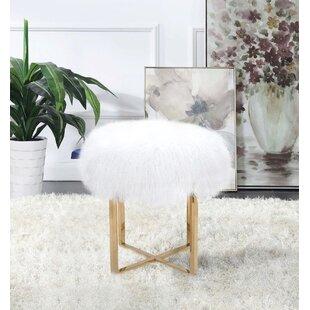 Fantastic Allesandra Mongol Fur Ottoman Andrewgaddart Wooden Chair Designs For Living Room Andrewgaddartcom