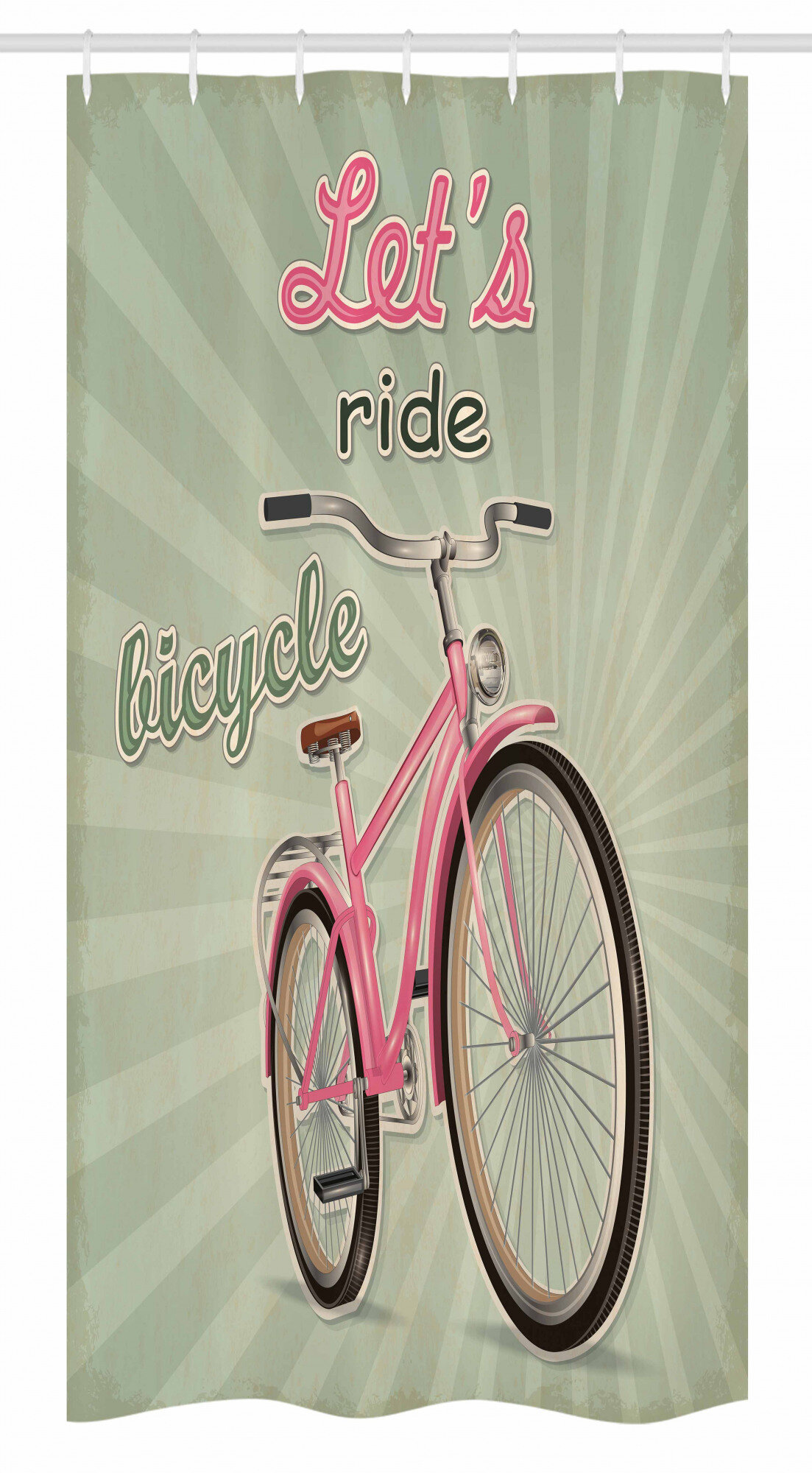 Bicycle Stall Shower Curtain Single Hooks