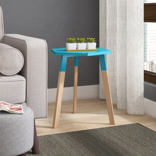 Reviews Callaghan End Table by Wrought Studio