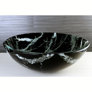 Great deal Canyon Glass Circular Vessel Bathroom Sink By Kingston Brass