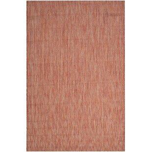 Mullen Red / Beige Indoor/Outdoor Area Rug