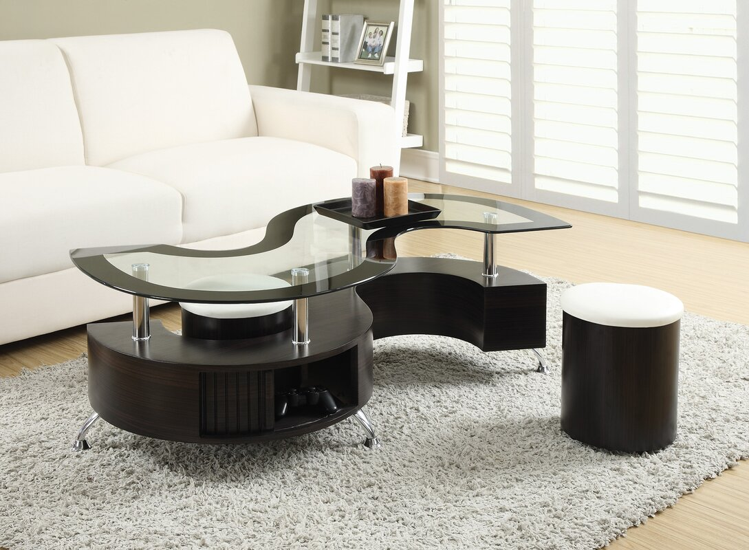 Milivoje 3 Piece Coffee Table Set Orren Ellis  Reviews Wayfair
