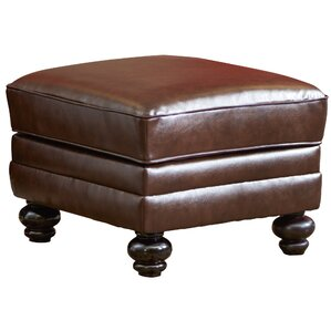 Croydon Bonded Leather Storage Ottoman by Three Posts