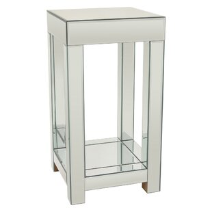 Theodora Mirrored End Table